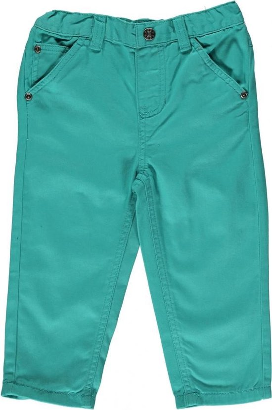 Blue Seven babykleding - Groene denim broek - Maat 68