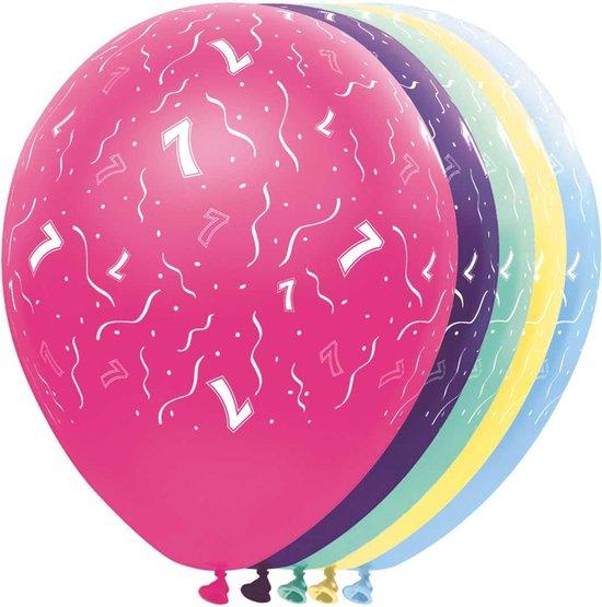 Ballonnen - feestballonen - 7 jaar
