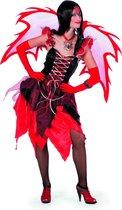 Fee jurk feetje rood - zwart Maat 46
