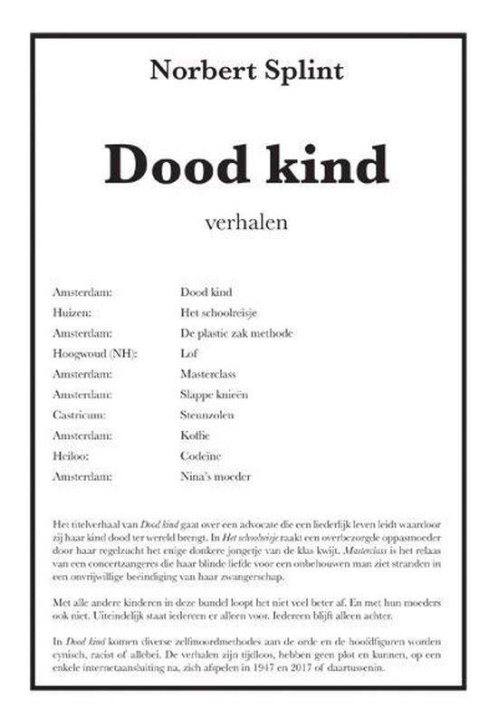 Dood kind - Norbert Splint |