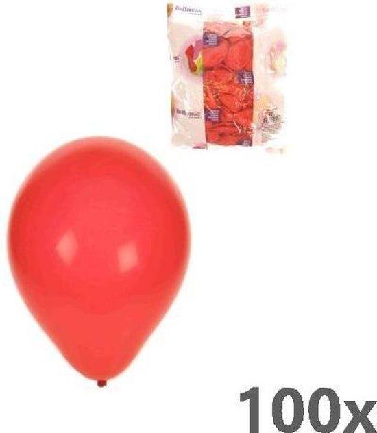 Helium ballonnen Rood 100 stuks