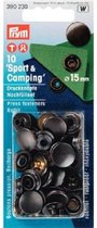 Prym 10 drukknopen sport & camping 15 mm  navulset  zwart 390 230