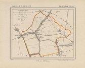 Historische kaart, plattegrond van gemeente IJlst (ijlst) in Friesland uit 1867 door Kuyper van Kaartcadeau.com