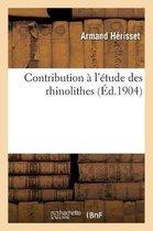 Contribution l' tude Des Rhinolithes