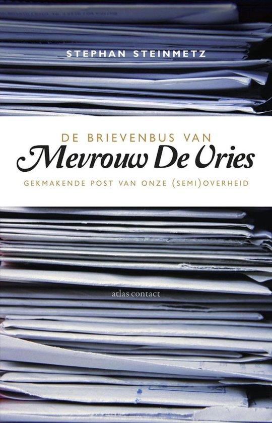 Boek cover De brievenbus van Mevrouw De Vries van Stephan Steinmetz (Onbekend)