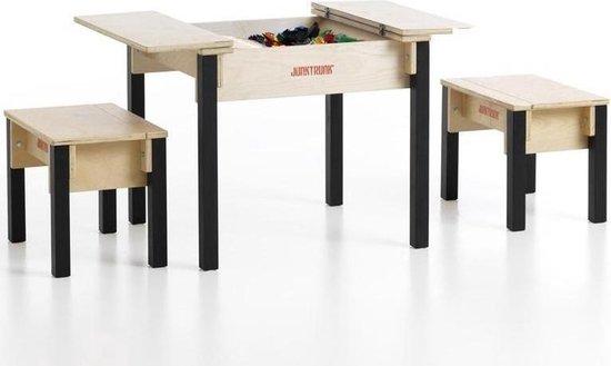 Afbeelding van het spel Kindertafel met 2 houten hockers