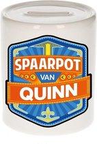 Kinder spaarpot voor Quinn - keramiek - naam spaarpotten