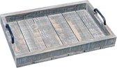 Grijs Houten Dienblad - 58x37,5xH7 cm