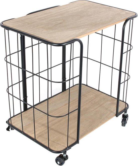 Bakkerskast - trolley - zwart - Alveru