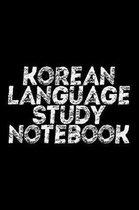 Korean Language Study Notebook
