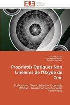 Propri�t�s Optiques Non Lin�aires de l'Oxyde de Zinc