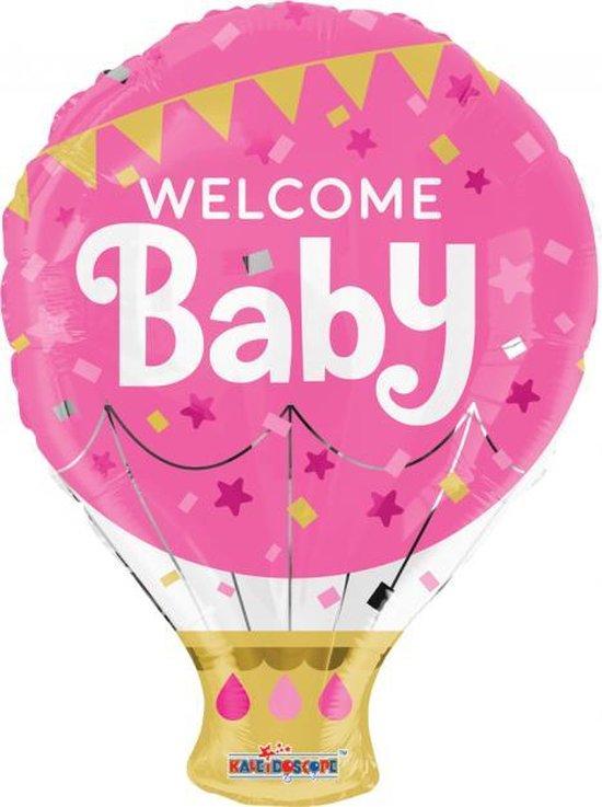 Folie ballon als luchtballon welcome baby 46 cm groot