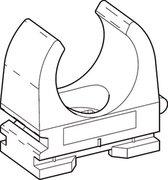 DONQ drukzadel OPDZ, kunstst, grijs, diam 18 - 19mm, 1 kabels/buizen