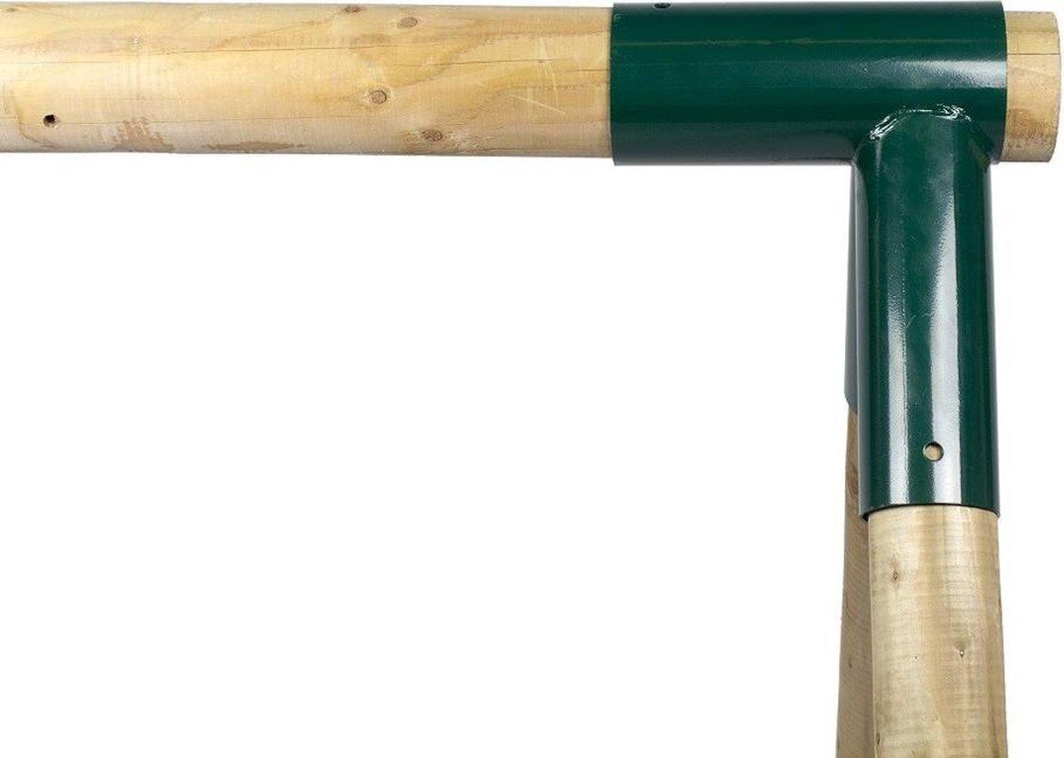 Hoekverbinding Schommel Recht rond 100/80mm groen