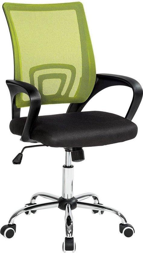 Bureaustoel Zwart Design.Bol Com Tectake Bureaustoel Kantoor Design Zwart Groen