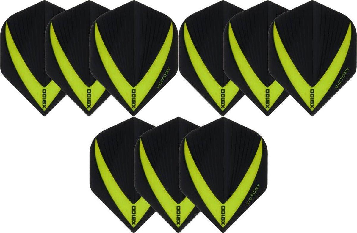 Dragon darts 3 sets (9 stuks) Super Sterke - Groene - Vista-X - flights - darts flights