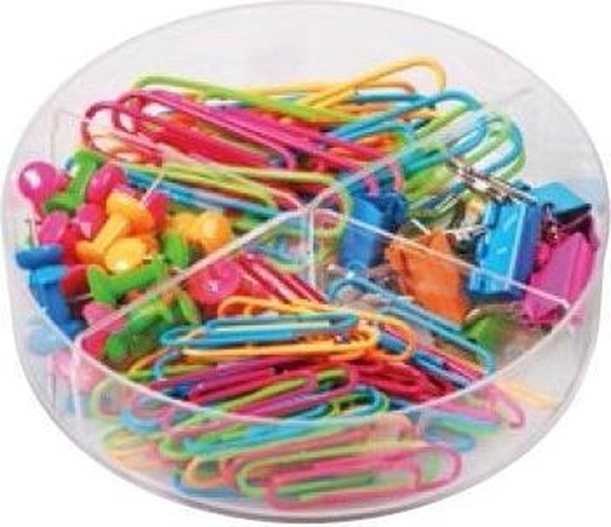 Doosje met Paperclips - 110 Stuks   Kantoor / School / Thuis  Multi-Kleur - Trend Accessoires