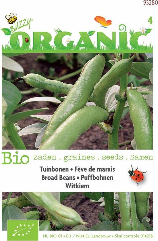 Buzzy Organic Tuinbonen Witkiem 15 gram (BIO)