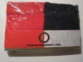 Feyenoord Boxershorts 2 pack 140-146 - Zwart | Rood