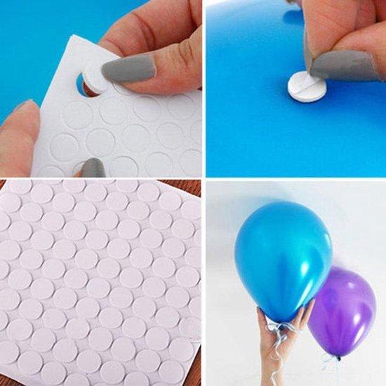 KELERINO. Ballon stickers - Ballon plakkers - 100 stuks
