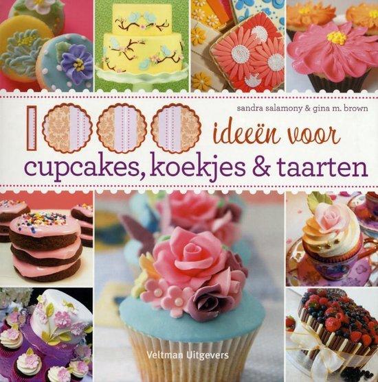 Cover van het boek '1000 ideeen voor cupcakes koekjes en taarten' van Sandra Salamony