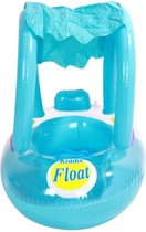 HBKS Baby Float - Kiddie Float Zwemtrainer - Opblaasboot - Baby Zwemband - Zwemring - Baby Speelgoed - Swimtrainer - Strand Speelgoed - Kraamcadeau - Babyshower - Inclusief Zonnekap - Blauw