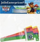 SOS polsbandjes – Set van 6 Naambandjes met kindveilige sluiting - ID bandjes – Infobandjes voor kinderen van ca. 0-6 jaar - Paw Patrol