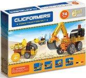 Clicformers bouwblokken - Construction 74 pcs bouwset - gepatenteerd constructie speelgoed - made in Belgium bouwspeelgoed
