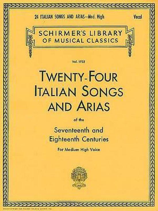 Boek cover Twenty-Four Italian Songs & Arias Of The 17/18th Centuries - Medium-High Voice van Hal Leonard
