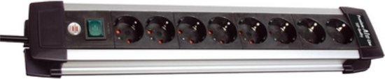 Brennenstuhl Premium-Alu-Line stekkerdoos met 8 contacten / zwart - 3 meter - Brennenstuhl