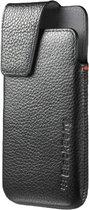 BlackBerry tasje met riemclip - leder - zwart - voor BlackBerry Z10