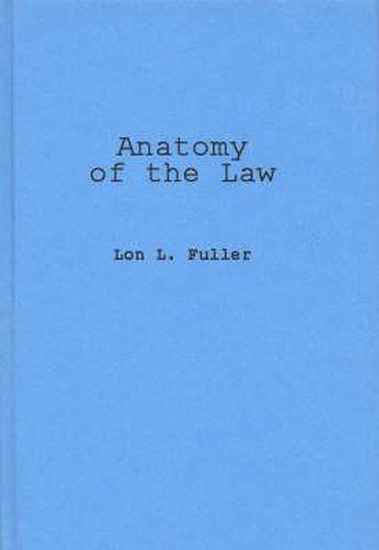 Boek cover Anatomy of the Law van Lon L. Fuller (Hardcover)