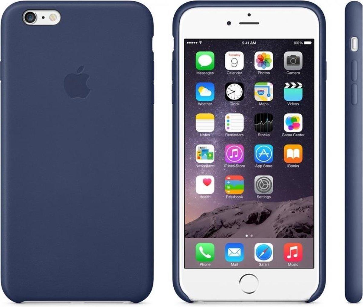 Apple Leren Hoesje voor iPhone 6/6s Plus - Donkerblauw