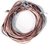 Yogi & Yogini naturals Lederen halsketting met karabijnslotje lichtbruin (45 cm)