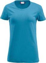 Clique Carolina S/S Turquoise maat M