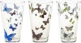 Janneke Brinkman Longdrinkglazen - 12 stuks - Vlinders