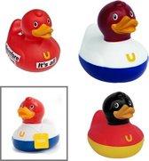 3x Badeend - rubber - 9cm - BUD Duck | Dutch - German - Thinking