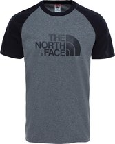 The North Face S/S Raglan Easy Tee - Eu Shirt Heren - Tnf Medium Grey Heather (Std)