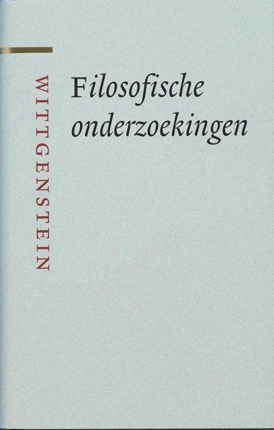 Grote klassieken - Filosofische onderzoekingen - L. Wittgenstein  