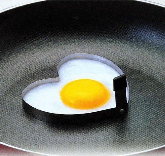 Ei in de vorm van een hart