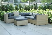 Rimini loungeset Sand/Dark Grey