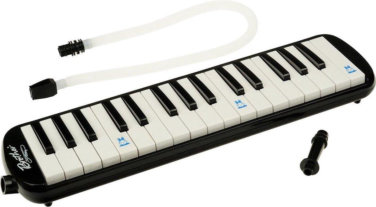 Melodica met tas   Blaas piano / keyboard 32 toetsen - zwart