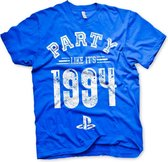 PLAYSTATION - T-Shirt Party Like It's 1994 - BLUE (M)