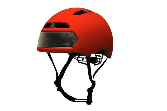 Torch T2 Red - fietshelm met ingebouwde voor- en achter verlichting