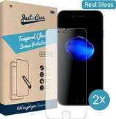 iPhone 7 / 8 screenprotector van gehard glas - 2 stuks - Just in Case