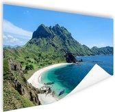 Uitzicht over Padar eiland Poster 180x120 cm - Foto print op Poster (wanddecoratie woonkamer / slaapkamer) XXL / Groot formaat! / Zee en Strand