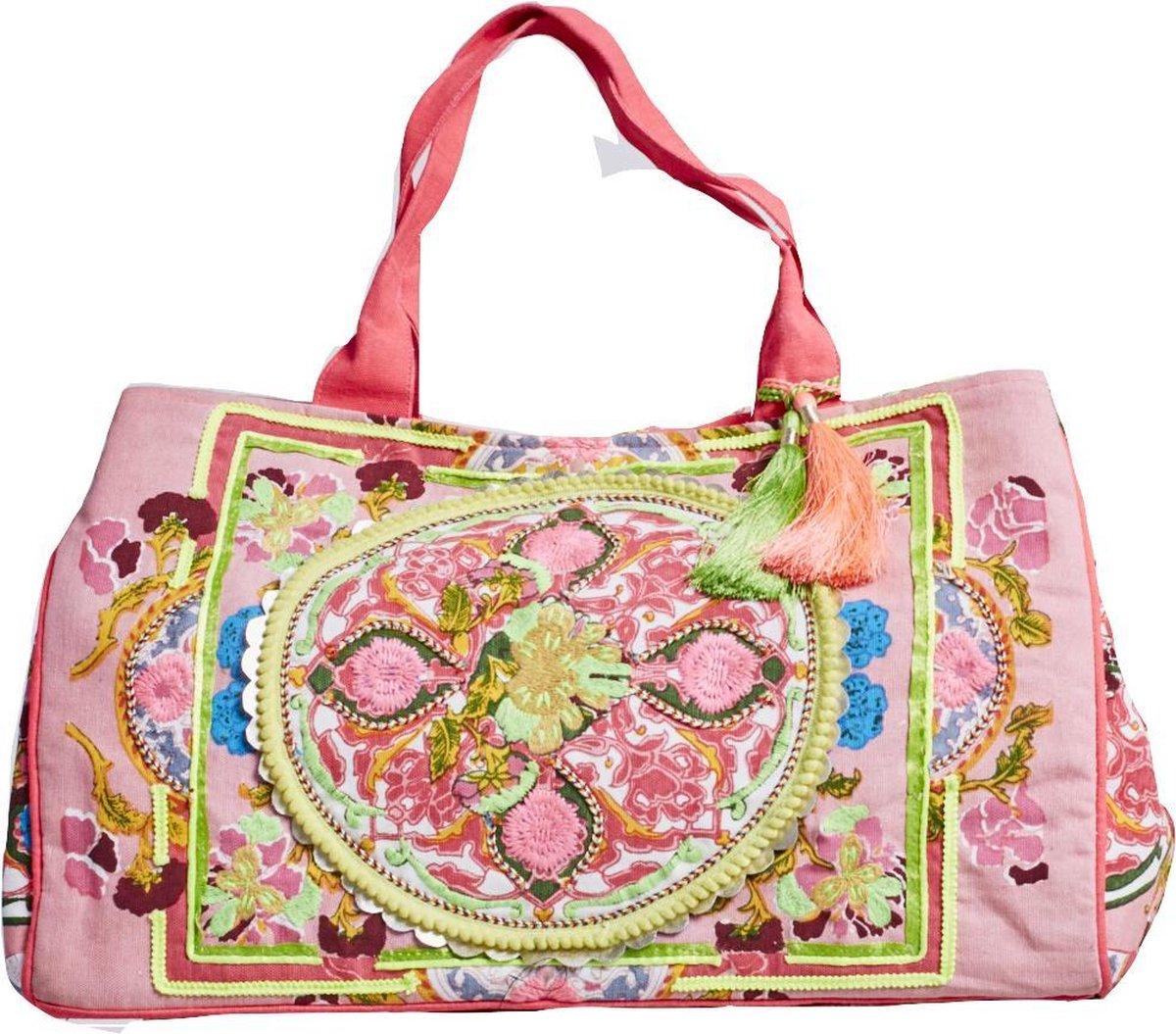 Debbie Katz Mini Boho Handtas - Roze