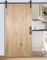 Schuifdeur van Eikenhout maatwerk max 117 cm breed en 215cm hoog