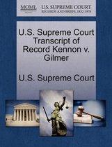 U.S. Supreme Court Transcript of Record Kennon V. Gilmer