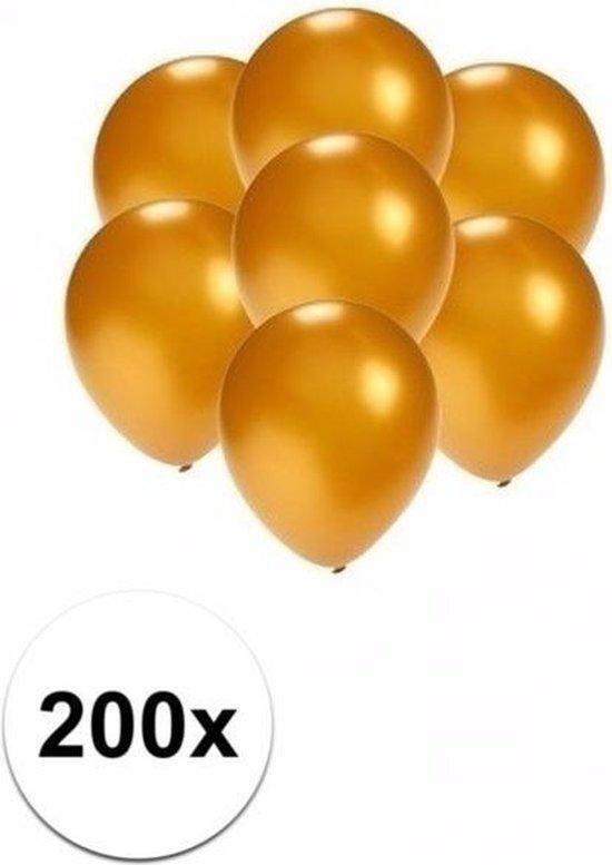 Kleine ballonnen goud metallic 200 stuks